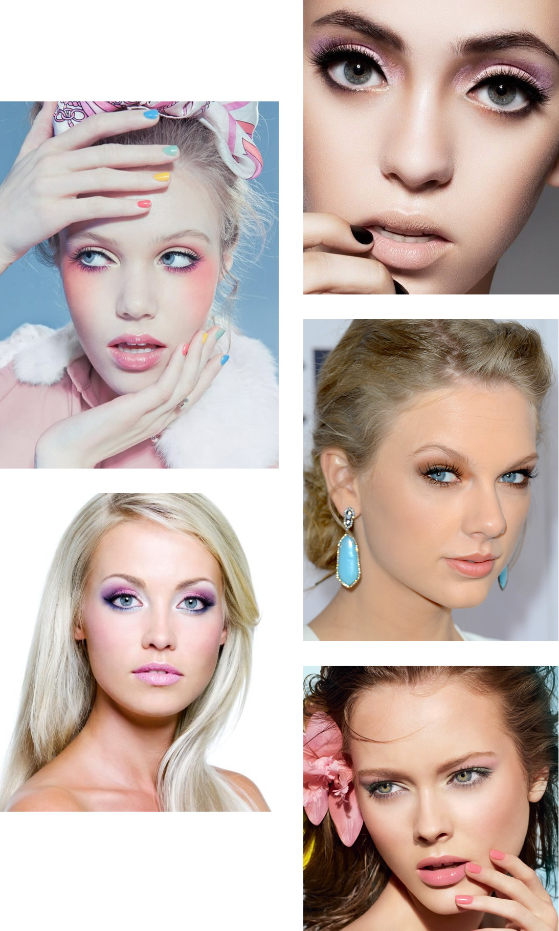 Pink Eye Makeup for Blue Eyes
